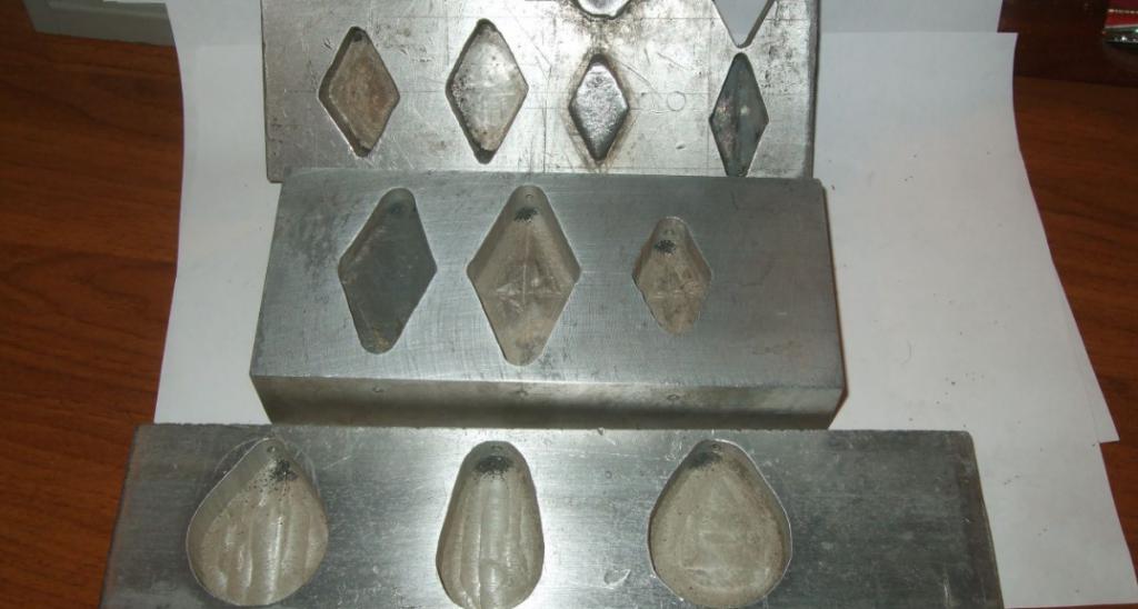 Изготовление формы для литья из свинца своими руками 8